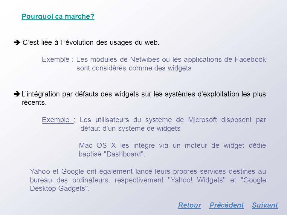 Pourquoi ça marche  C'est liée à l 'évolution des usages du web.