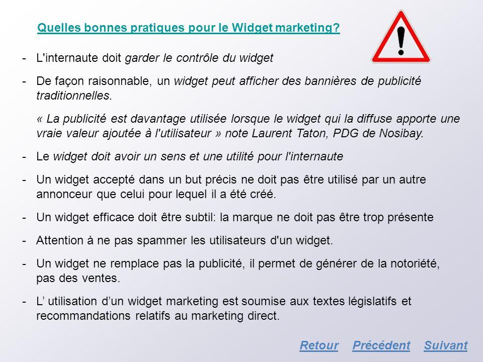 Quelles bonnes pratiques pour le Widget marketing