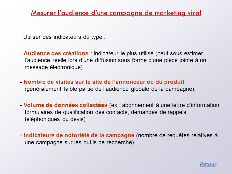 Mesurer l'audience d'une campagne de marketing viral