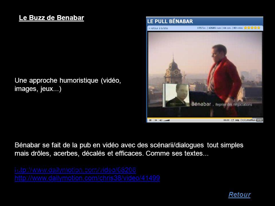 Le Buzz de Benabar Une approche humoristique (vidéo, images, jeux...)