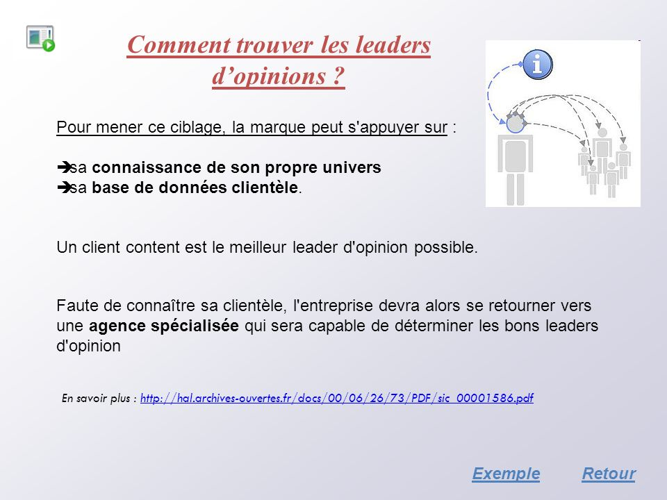 Comment trouver les leaders d'opinions