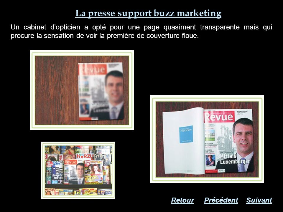 La presse support buzz marketing