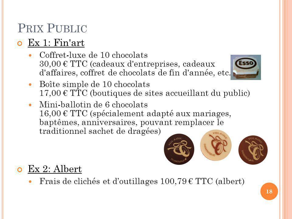 Prix Public Ex 1: Fin art Ex 2: Albert