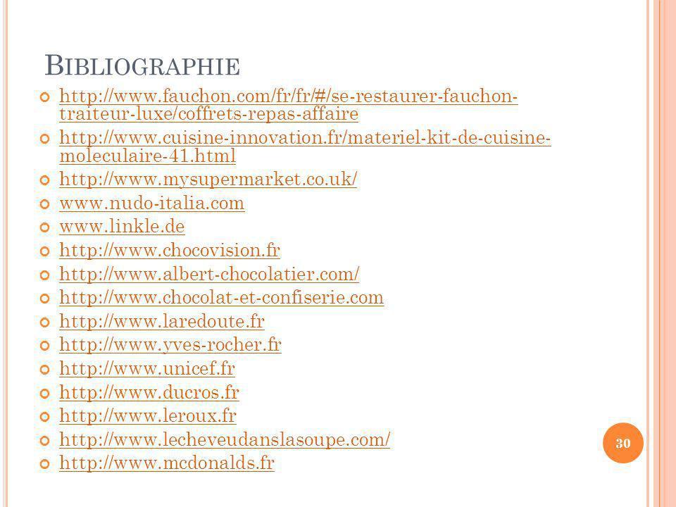 Bibliographie http://www.fauchon.com/fr/fr/#/se-restaurer-fauchon- traiteur-luxe/coffrets-repas-affaire.