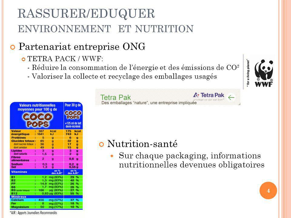 RASSURER/EDUQUER environnement et nutrition