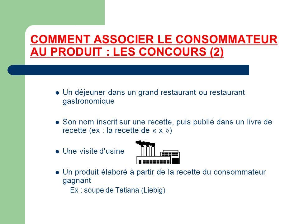 COMMENT ASSOCIER LE CONSOMMATEUR AU PRODUIT : LES CONCOURS (2)