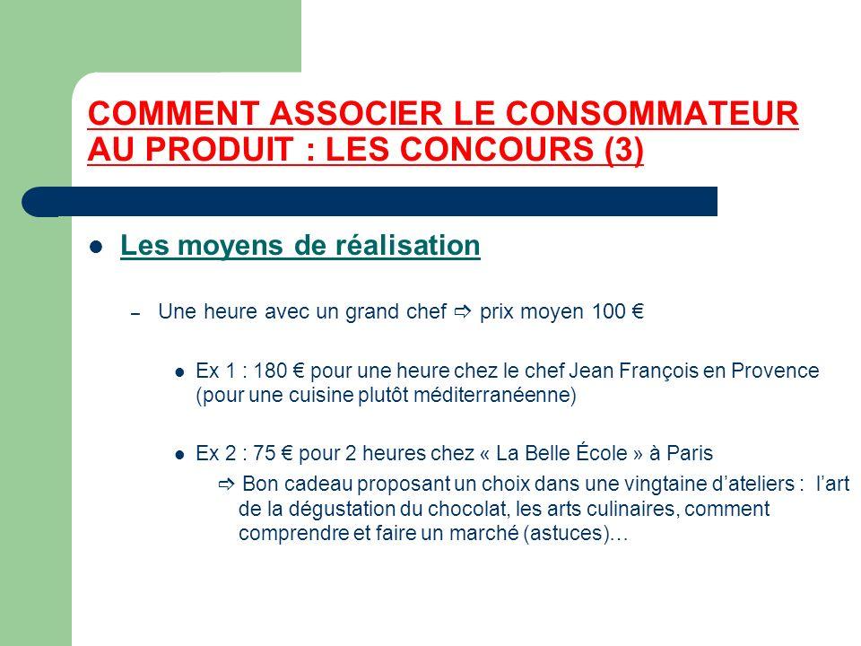 COMMENT ASSOCIER LE CONSOMMATEUR AU PRODUIT : LES CONCOURS (3)