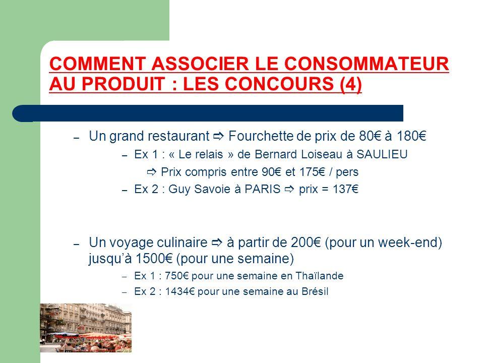 COMMENT ASSOCIER LE CONSOMMATEUR AU PRODUIT : LES CONCOURS (4)
