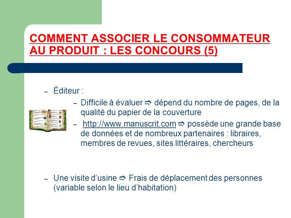 COMMENT ASSOCIER LE CONSOMMATEUR AU PRODUIT : LES CONCOURS (5)