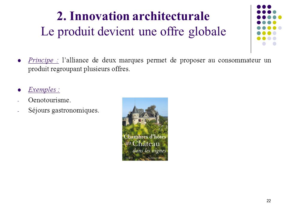 2. Innovation architecturale Le produit devient une offre globale