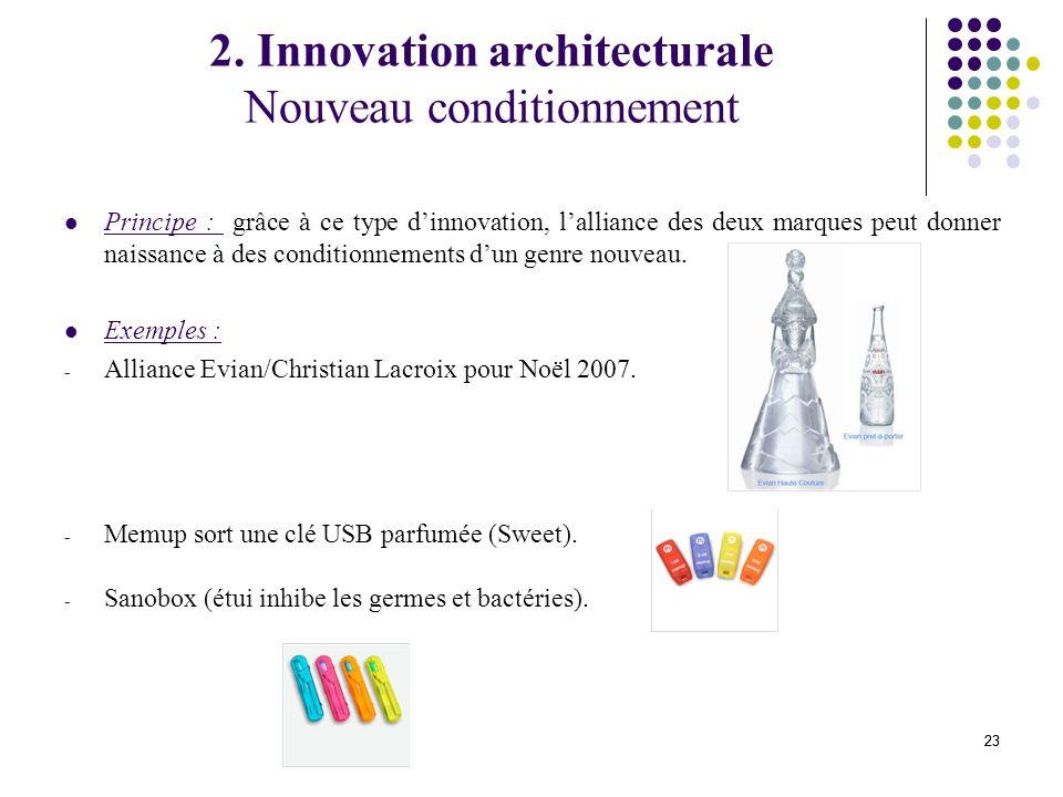 2. Innovation architecturale Nouveau conditionnement