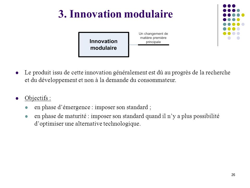3. Innovation modulaire
