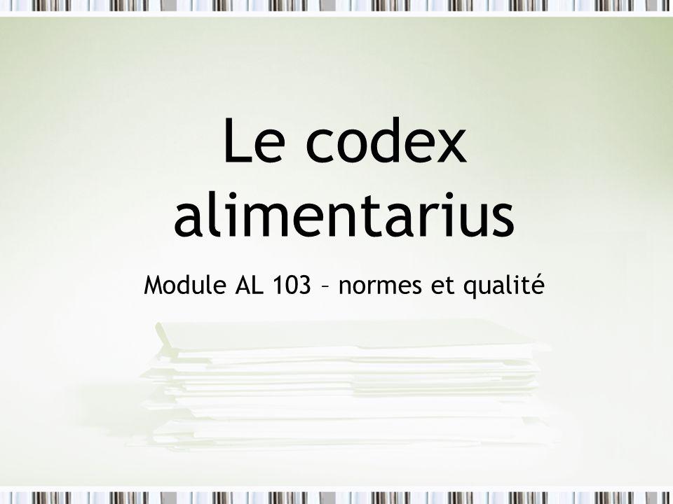 Module AL 103 – normes et qualité