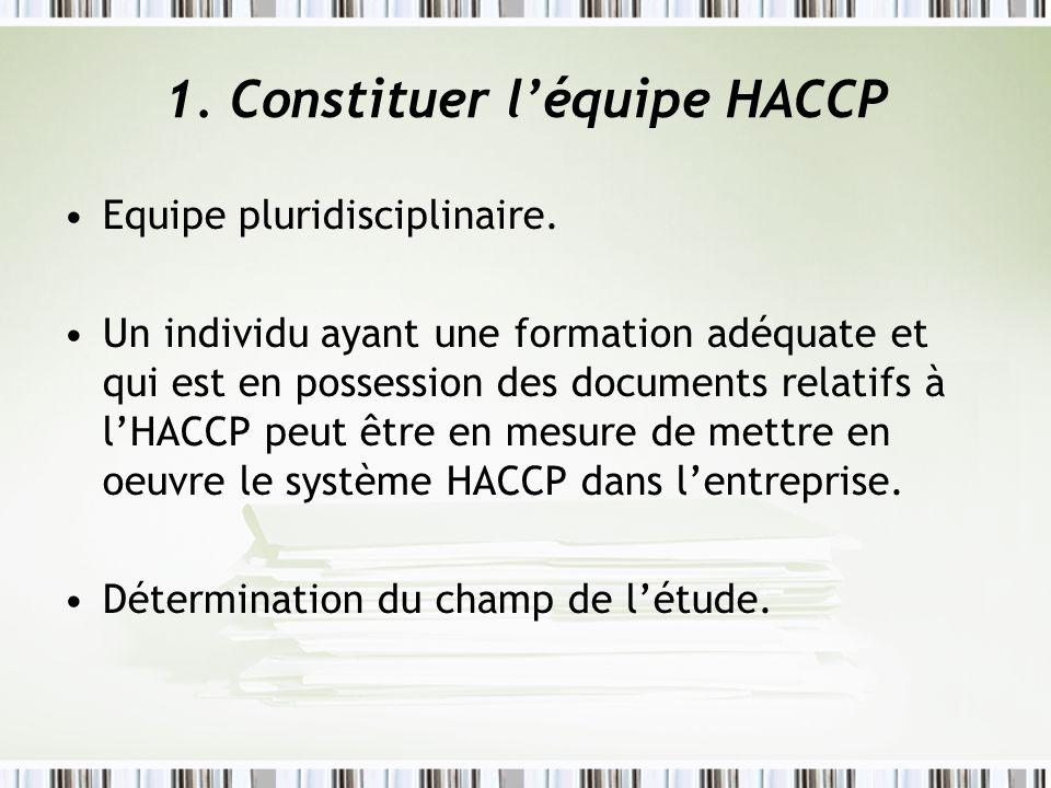 1. Constituer l'équipe HACCP