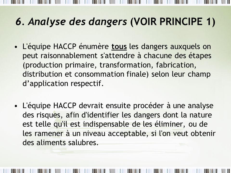 6. Analyse des dangers (VOIR PRINCIPE 1)