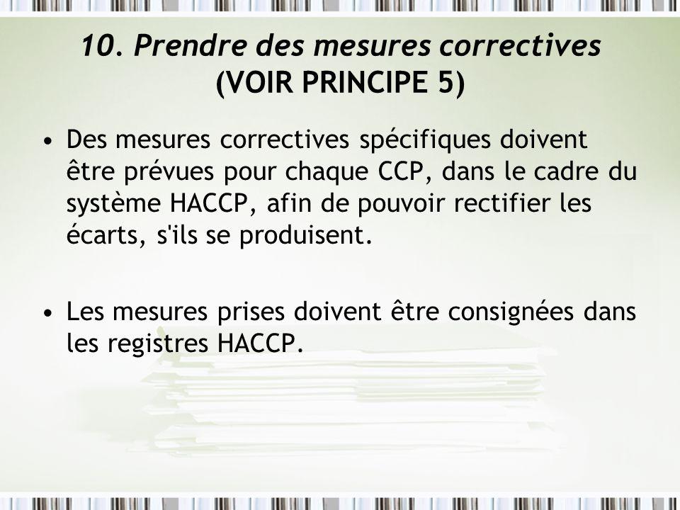 10. Prendre des mesures correctives (VOIR PRINCIPE 5)