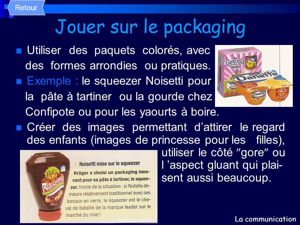 Jouer sur le packaging Utiliser des paquets colorés, avec
