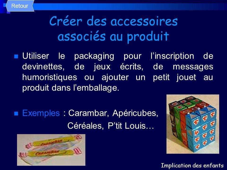 Créer des accessoires associés au produit