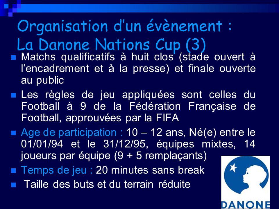 Organisation d'un évènement : La Danone Nations Cup (3)