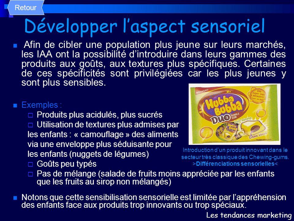 Développer l'aspect sensoriel