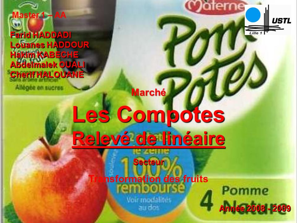 Transformation des fruits