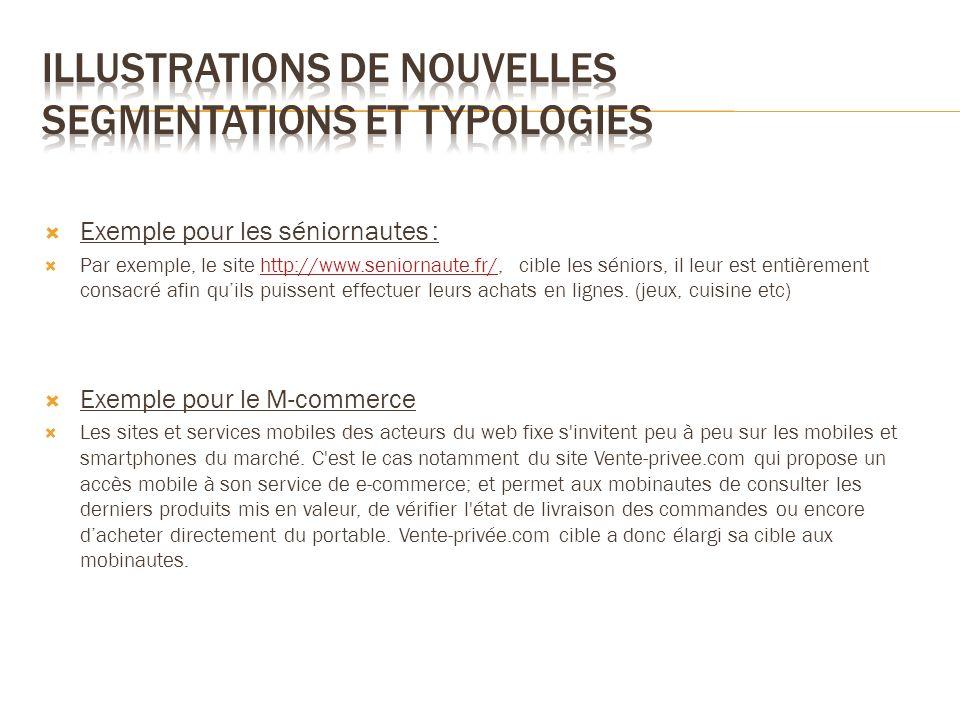 Illustrations de nouvelles segmentations et typologies