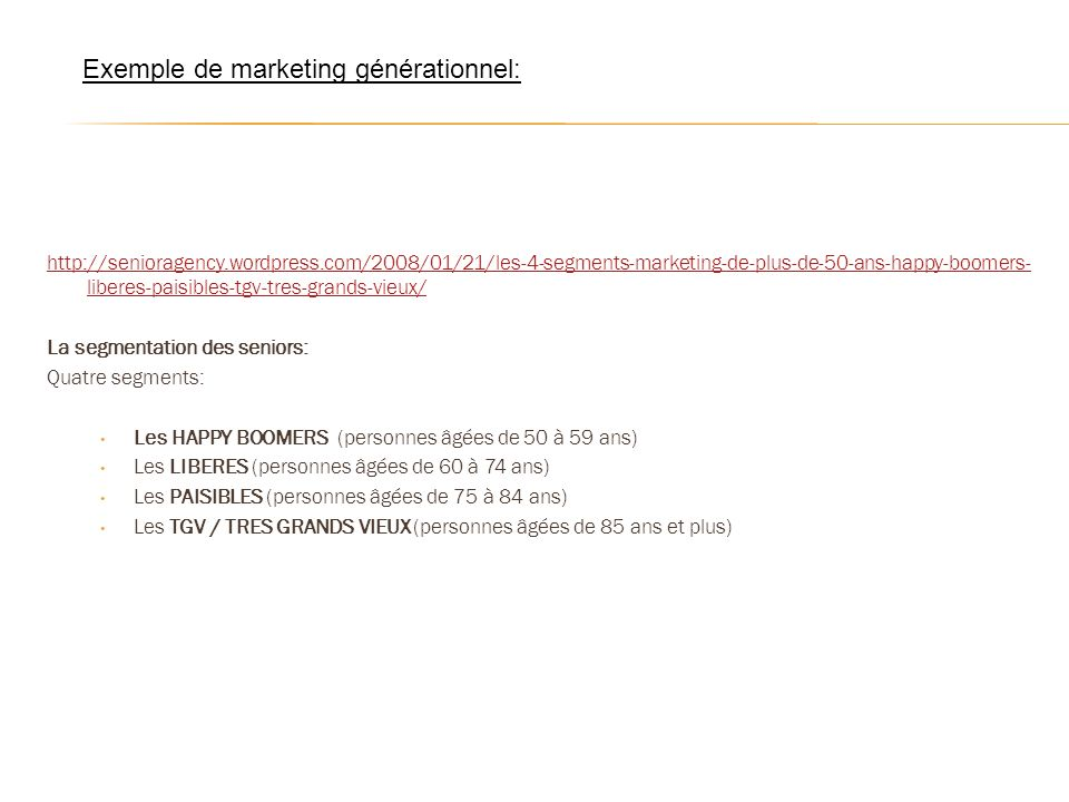 Exemple de marketing générationnel: