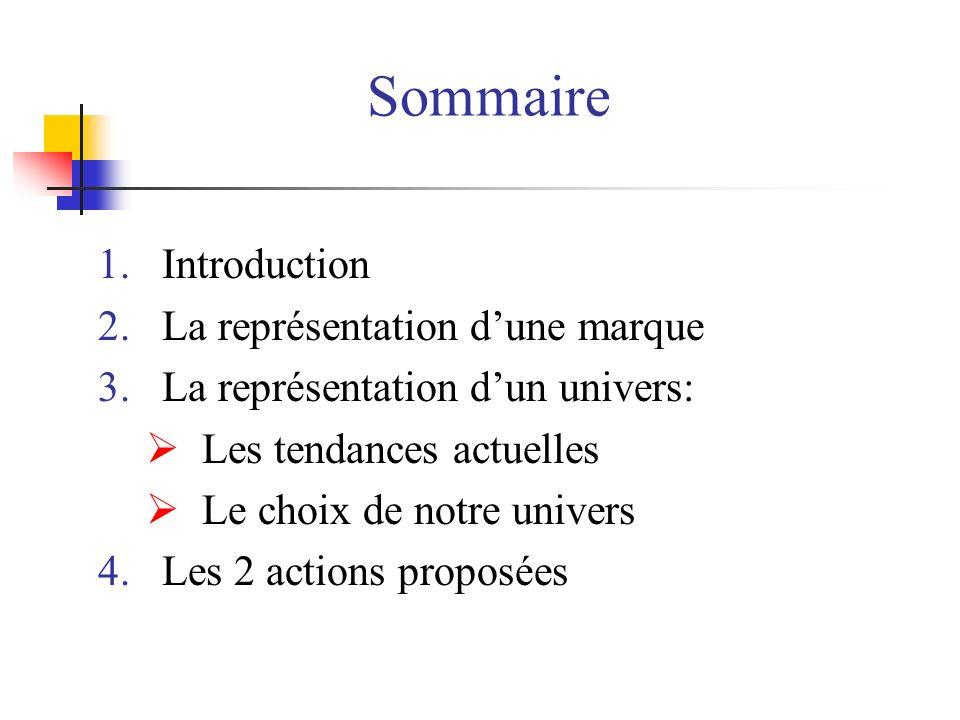 Sommaire Introduction La représentation d'une marque