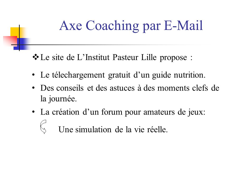 Axe Coaching par E-Mail