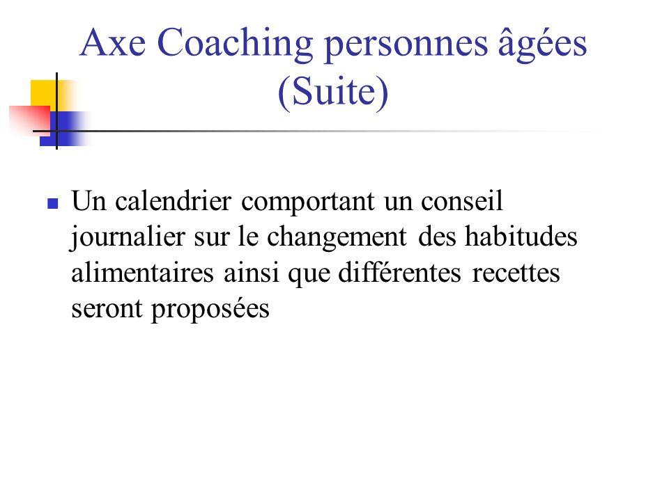 Axe Coaching personnes âgées (Suite)
