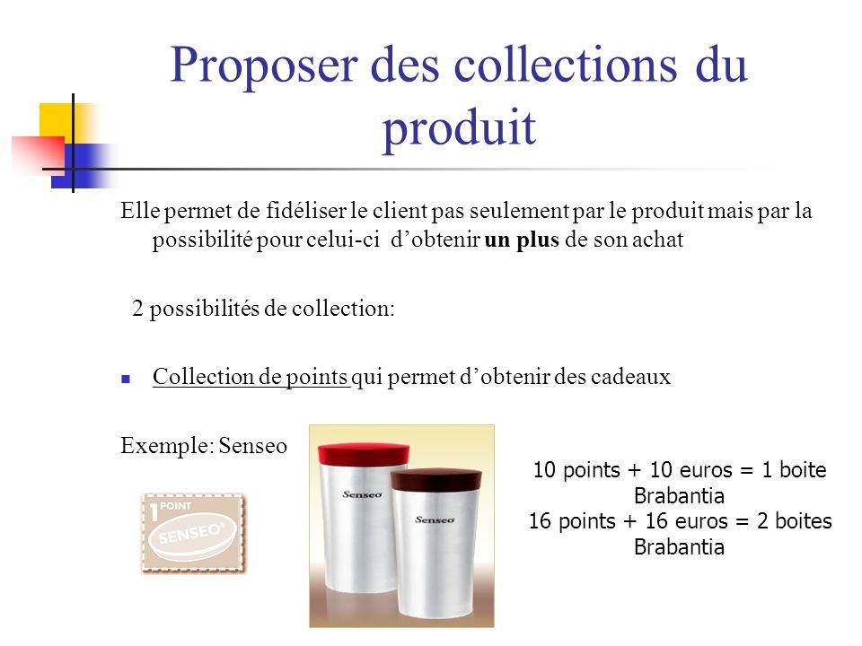 Proposer des collections du produit