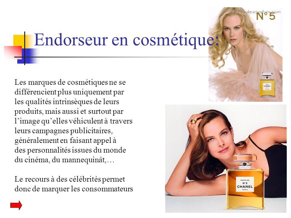 Endorseur en cosmétique: