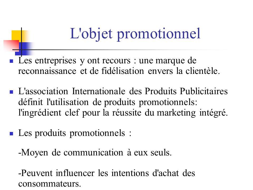 L objet promotionnel Les entreprises y ont recours : une marque de reconnaissance et de fidélisation envers la clientèle.