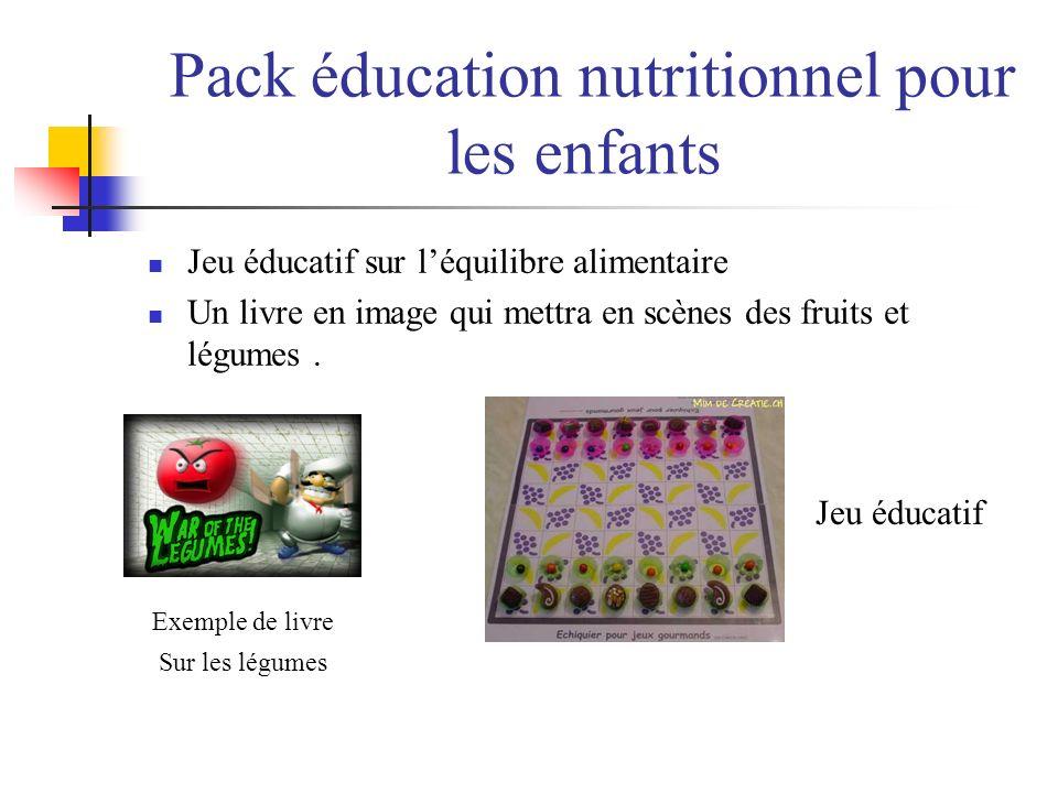 Pack éducation nutritionnel pour les enfants