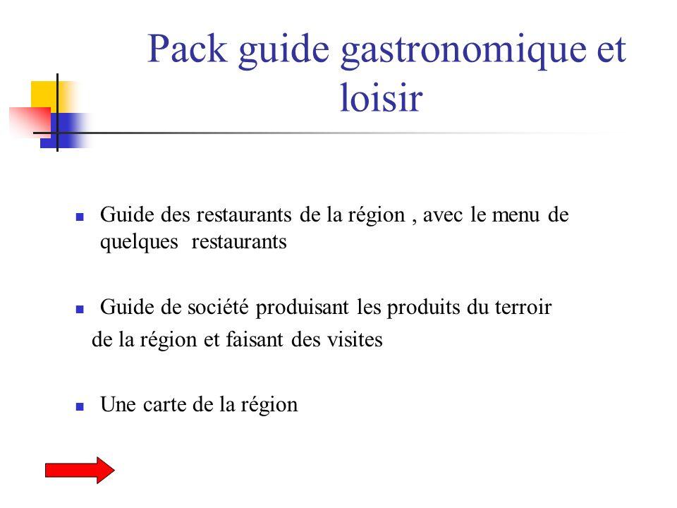 Pack guide gastronomique et loisir