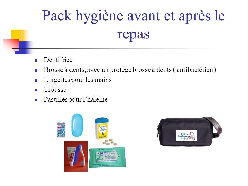 Pack hygiène avant et après le repas