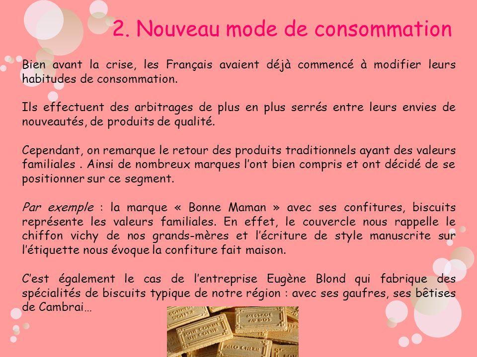 2. Nouveau mode de consommation