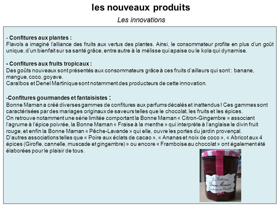 les nouveaux produits Les innovations Confitures aux plantes :