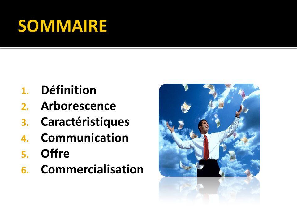 SOMMAIRE Définition Arborescence Caractéristiques Communication Offre