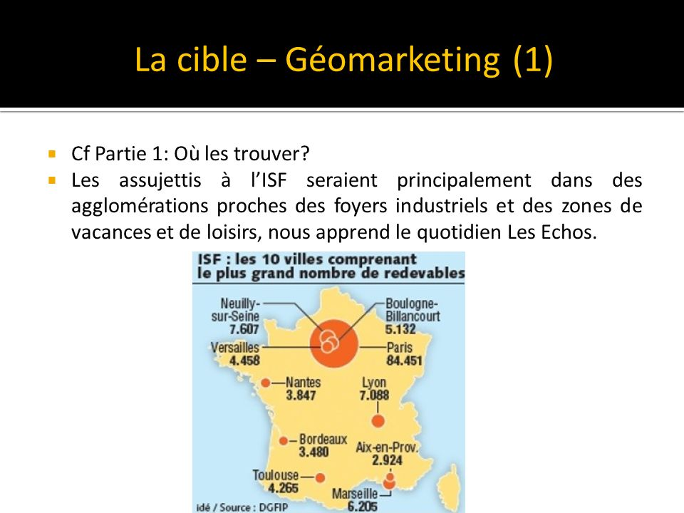 La cible – Géomarketing (1)