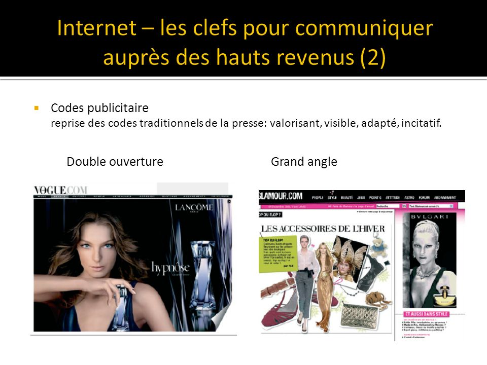 Internet – les clefs pour communiquer auprès des hauts revenus (2)