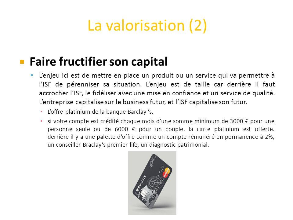La valorisation (2) Faire fructifier son capital