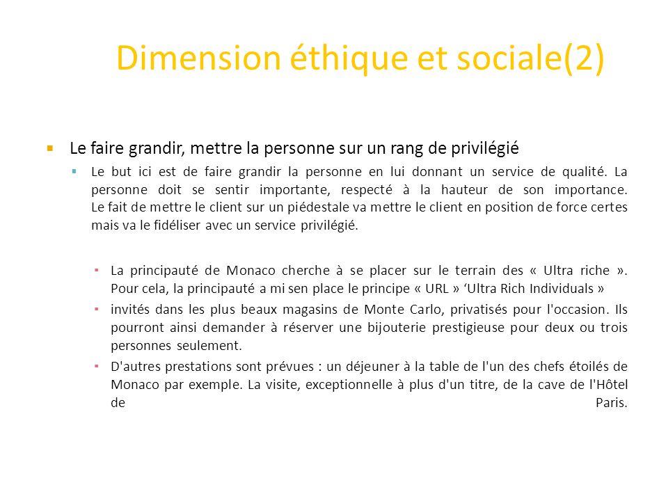 Dimension éthique et sociale(2)