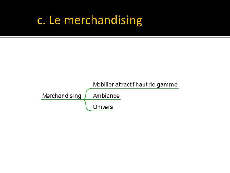 c. Le merchandising