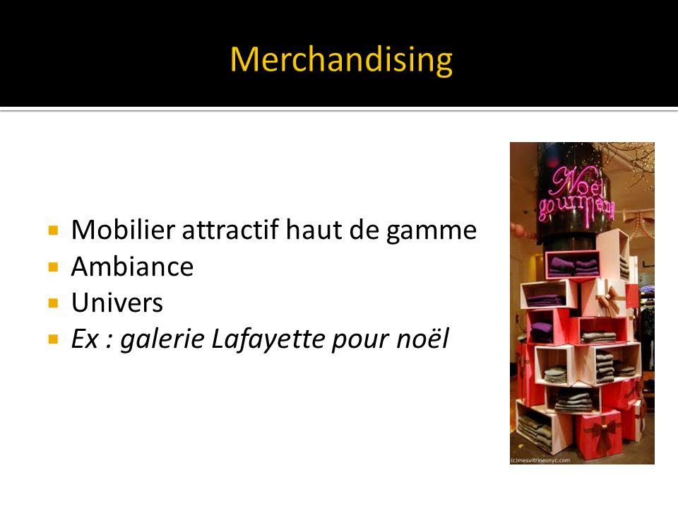 Merchandising Mobilier attractif haut de gamme Ambiance Univers