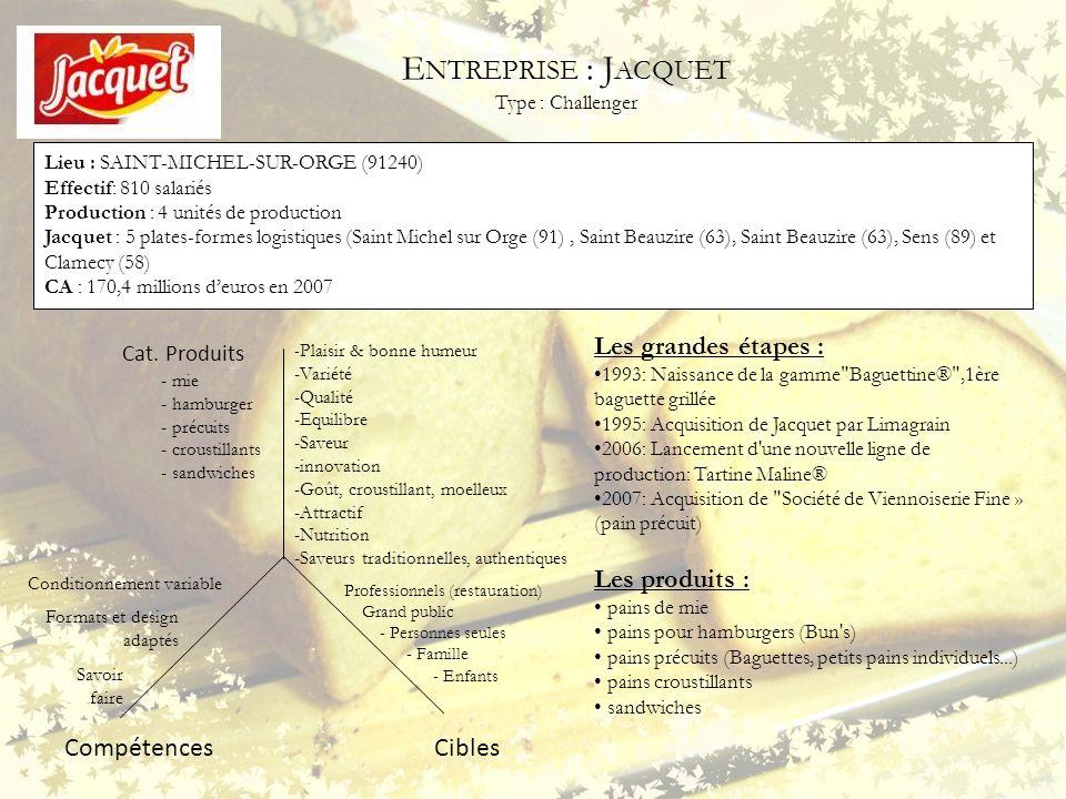 Entreprise : Jacquet Type : Challenger