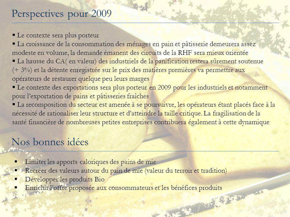 Perspectives pour 2009 Nos bonnes idées Le contexte sera plus porteur