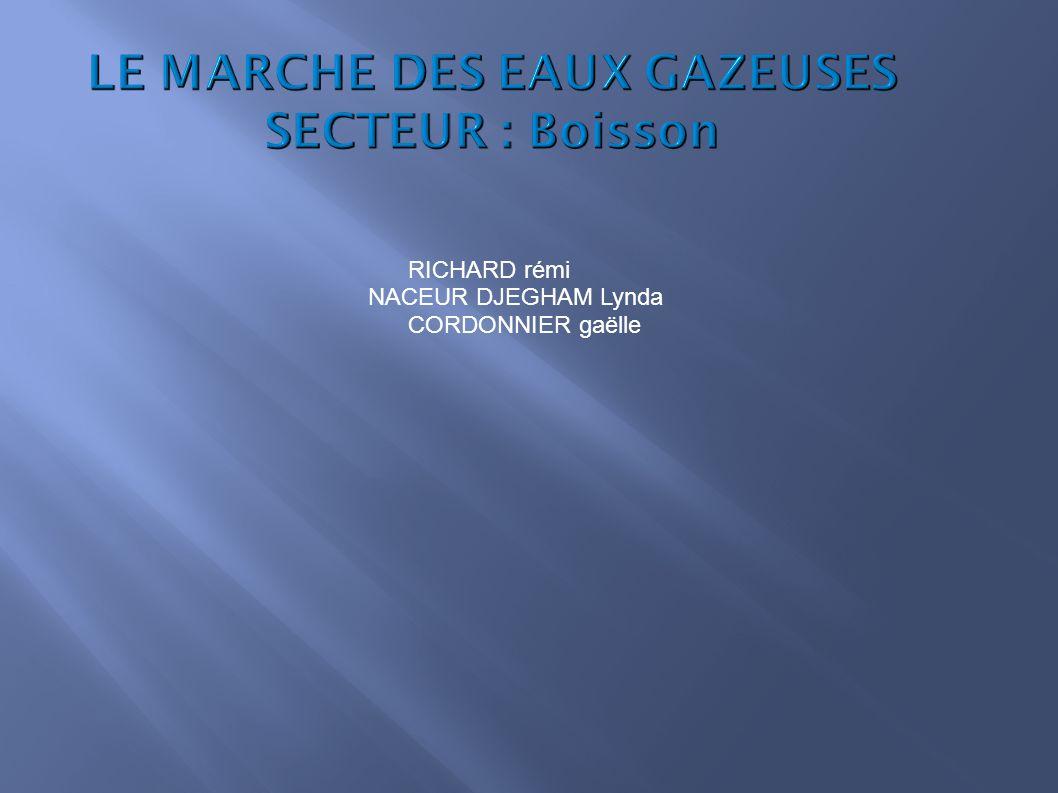 LE MARCHE DES EAUX GAZEUSES SECTEUR : Boisson