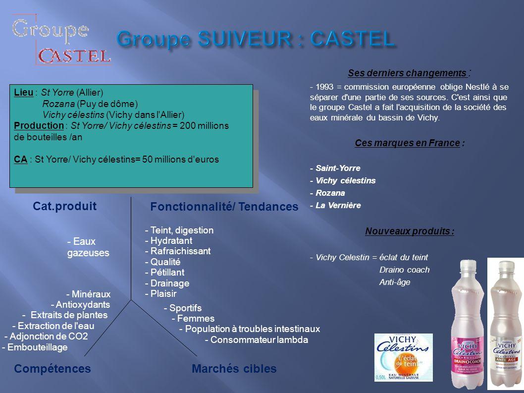 Groupe SUIVEUR : CASTEL