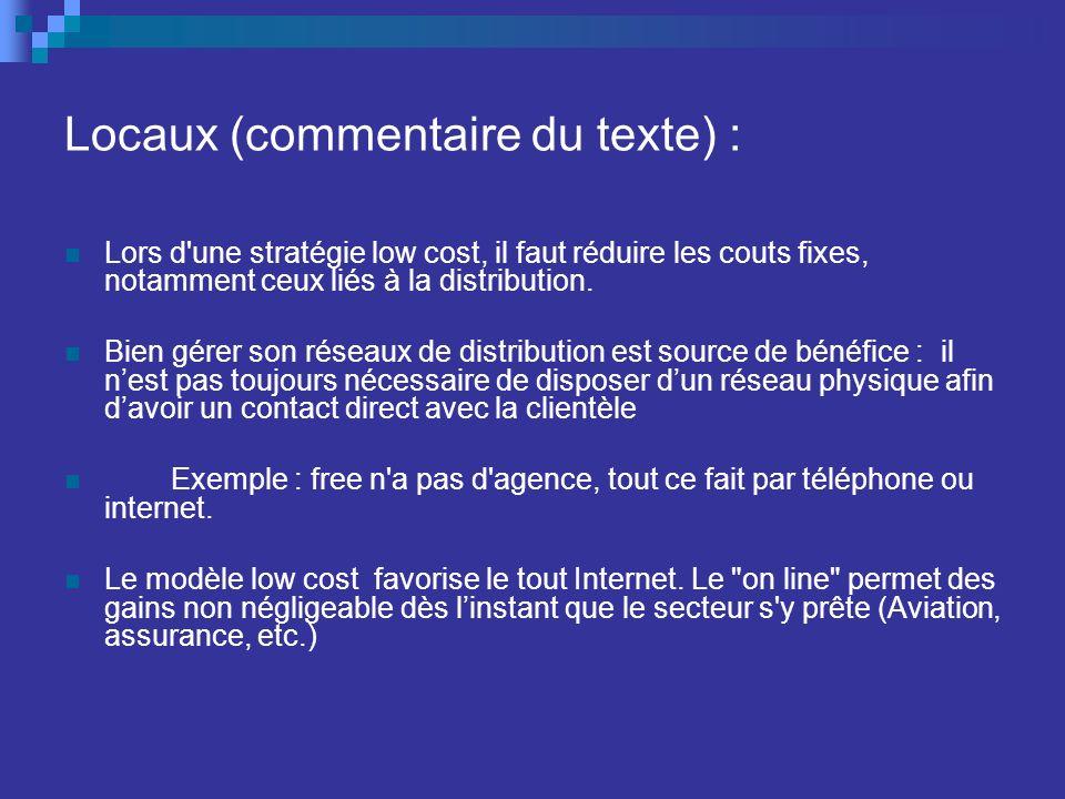 Locaux (commentaire du texte) :